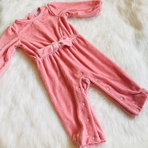 Carters pink suede jumpsuit